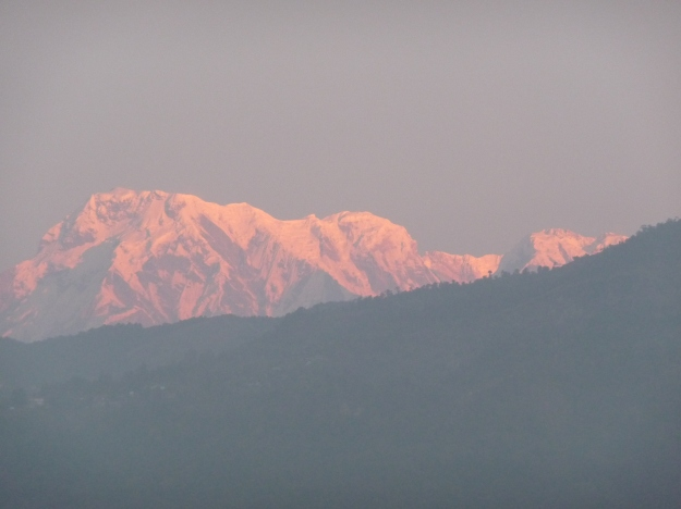 Annapurna I at sunrise.