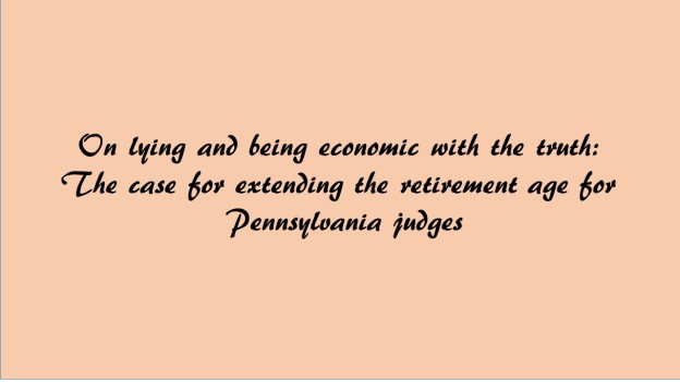 On retirement age of judges in Pennsylvania