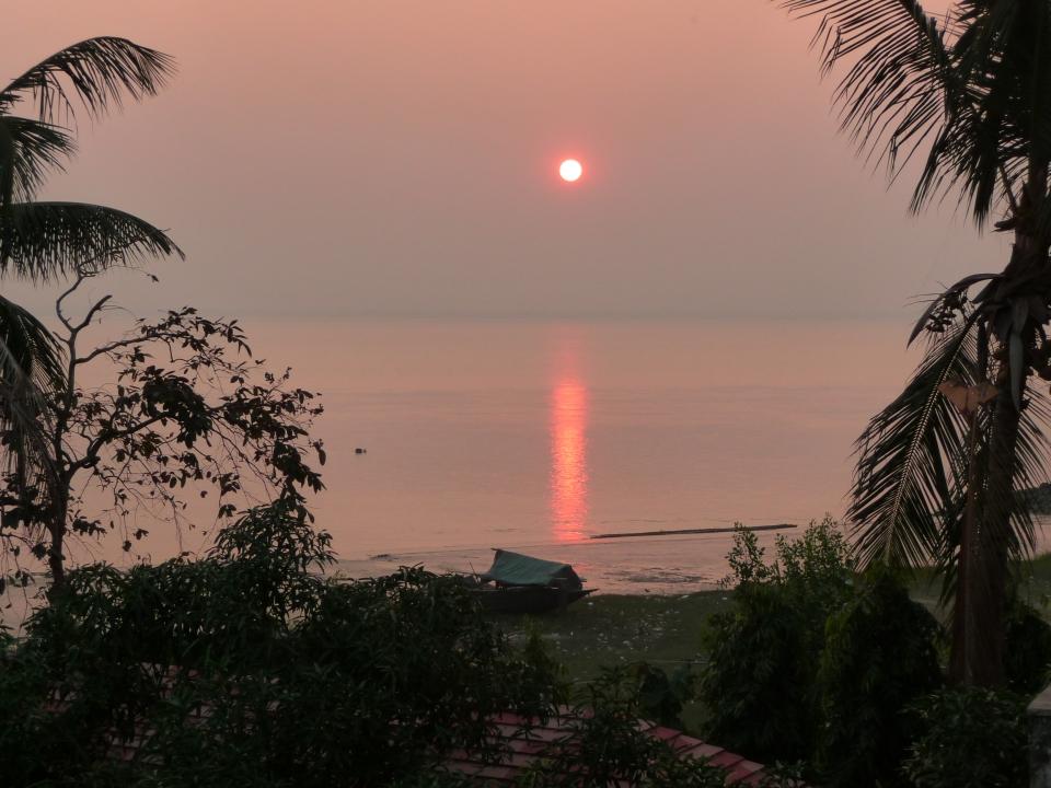 Sunset on the Ganges, India45