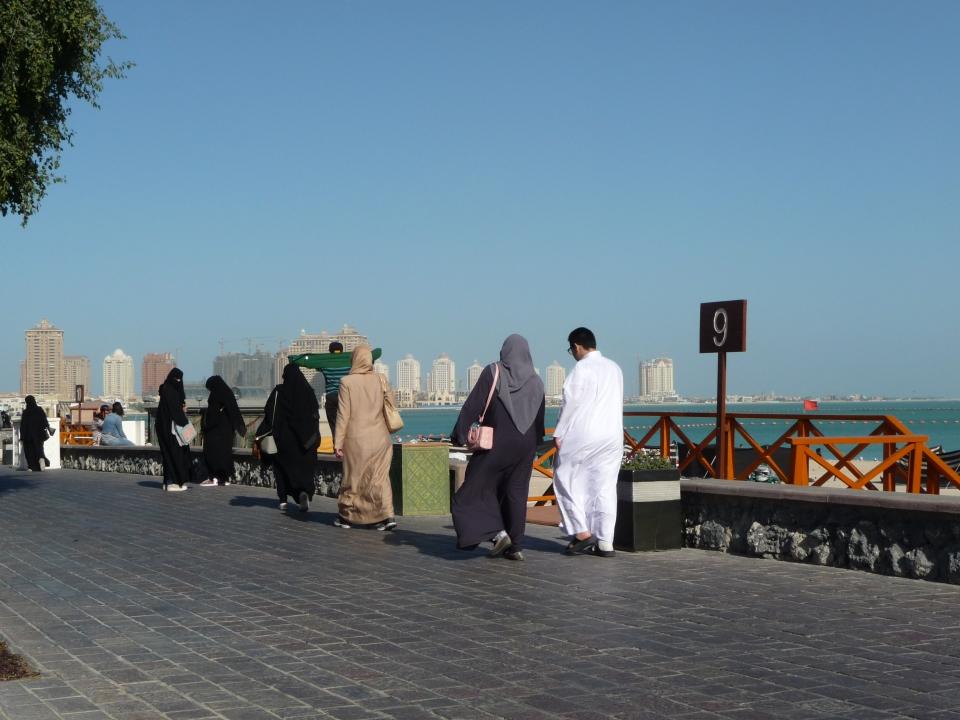 Walk by the beach, Doha