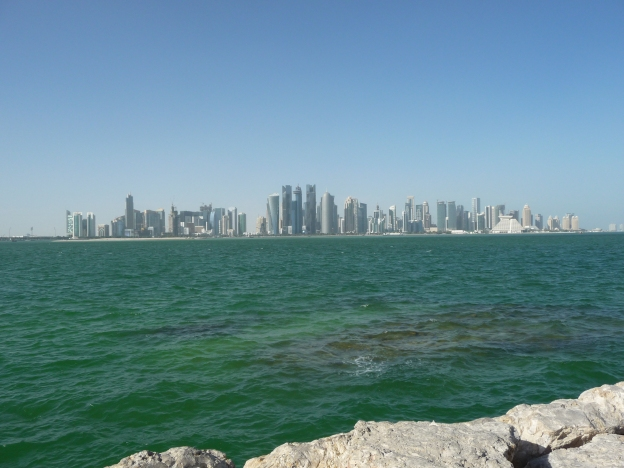 The Corniche skyline Doha