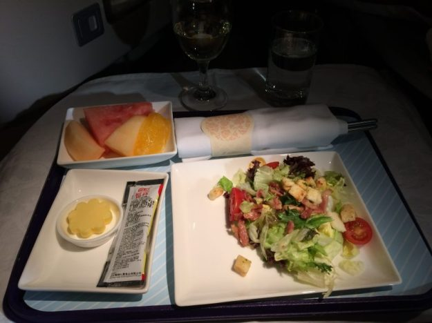 A salad on China Eastern Airlines flight