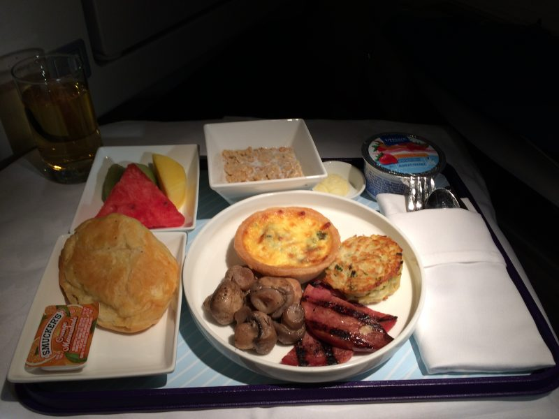 Breakfast on China Eastern Airlines flight