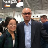 Chen and I at Hangzhou high speed rail station