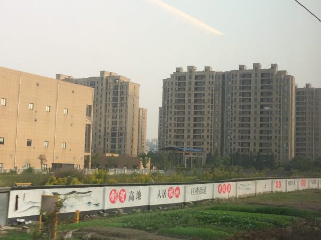 Newly constructed apartment blocks in China