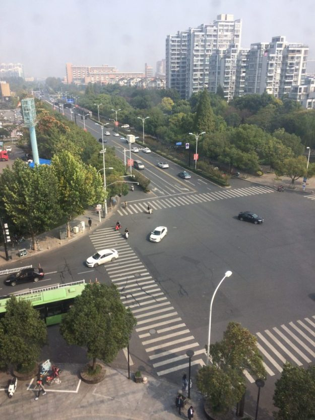 View from my hotel room in Hangzhou hotel