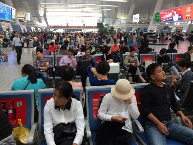 In Hangzhou high speed train station