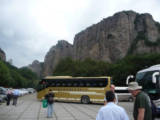 The start of the tour, Yandang Mountains, Wenzhou