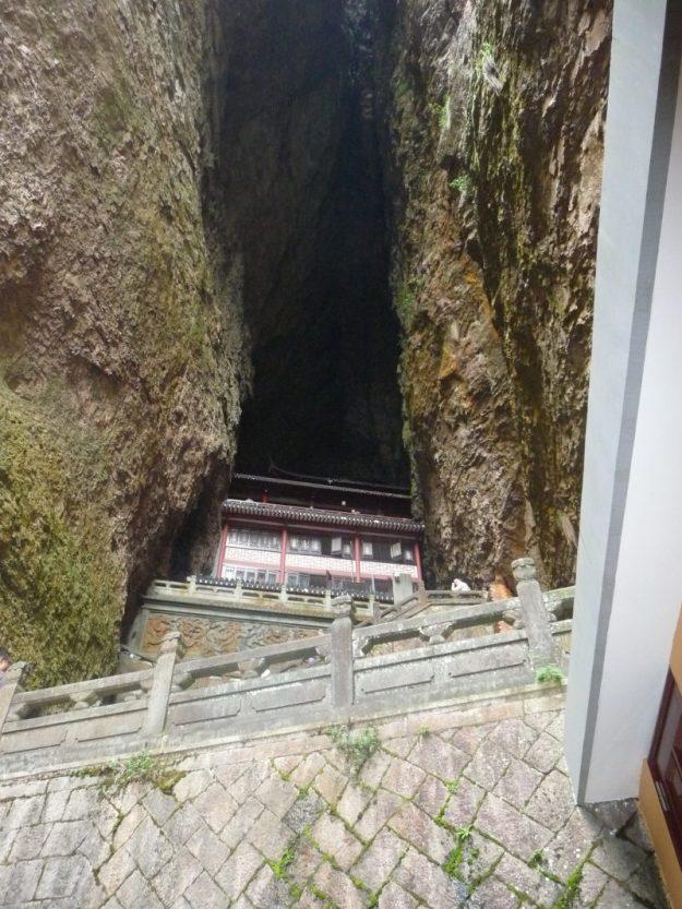 Guanyin temple in Lingfeng Peak, Zhejiang, China