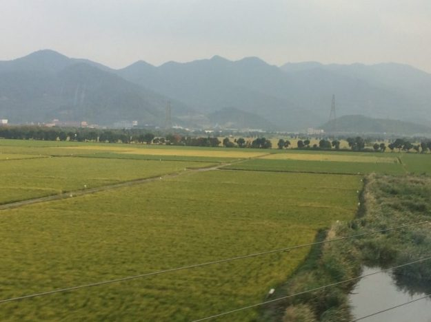 Chinese countryside from the train