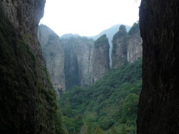 View from Guanyin temple, Yandang Mountain, China