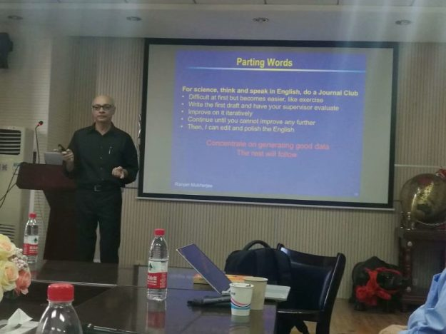 Parting words on scientific writing, Wenzhou University