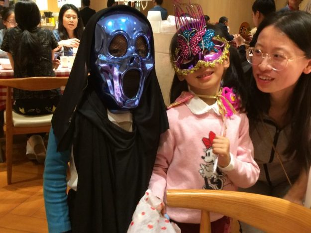 A Chinese Halloween, children in constume, Wenzhou, China