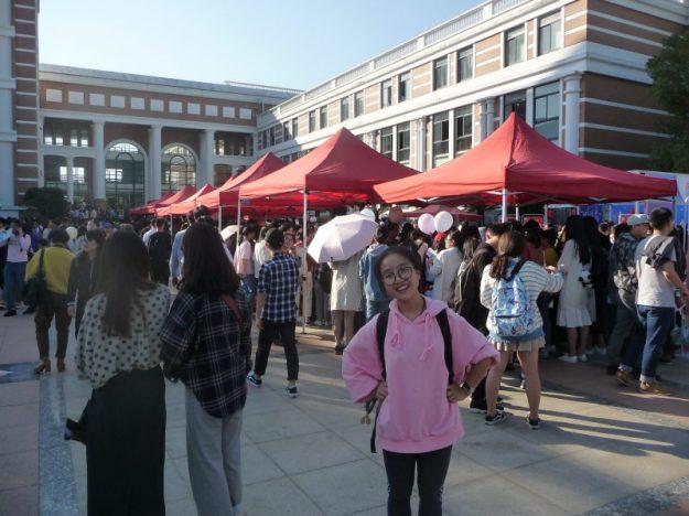 Stalls on sidewalk, 60th anniversary celebration of WMU