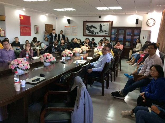 Students attending my class, Wenzhou University