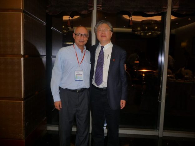 With Prof. Xiao Kun Li, President, Wenzhou Medical University