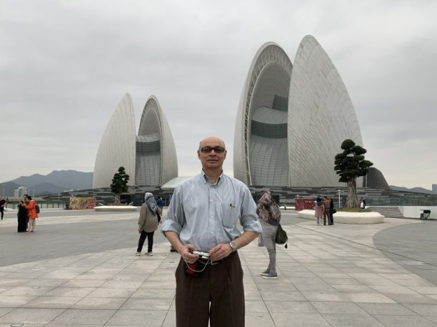 In front of the Zhuhai Opera House, Guangdong, China