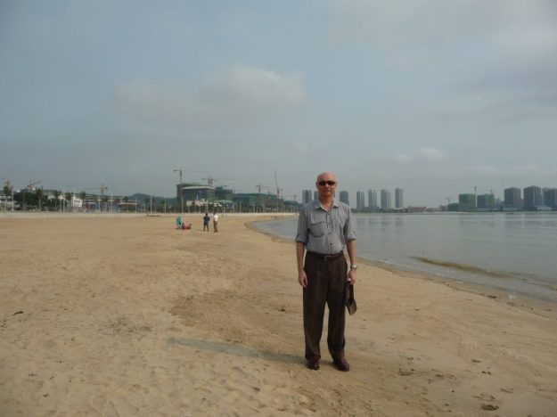 On Zhuhai beach, China