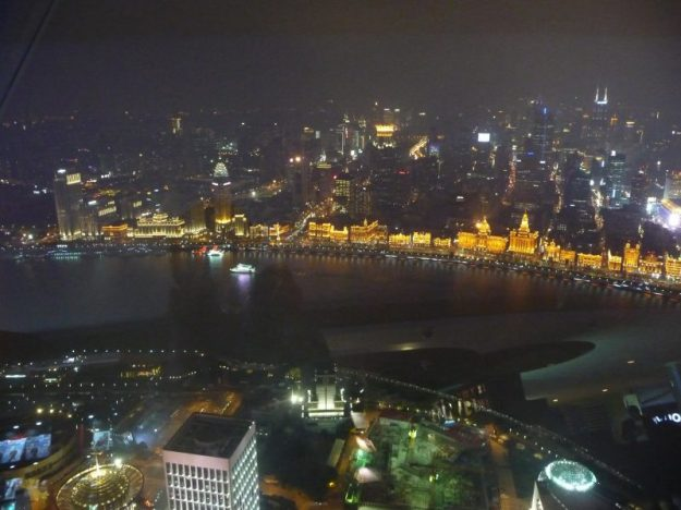 View from the top of the Oriental Pearl Tower