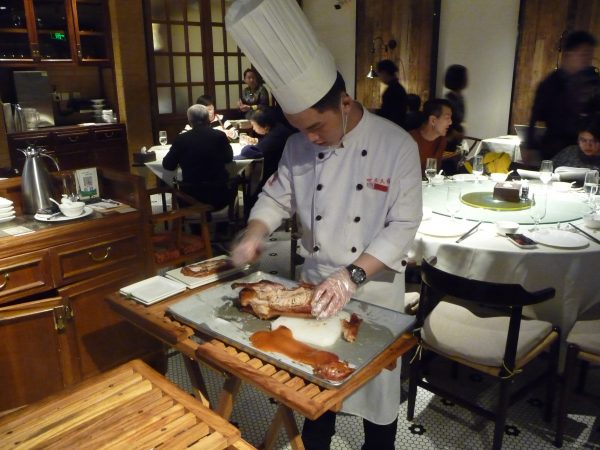 Beijing Duck carving