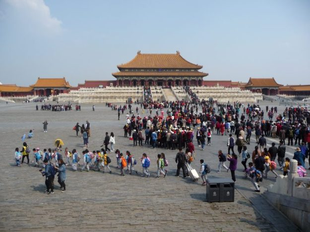 On a school trip to the Forbidden City