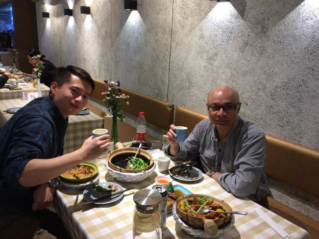 At dinner with Xu Di, my translator