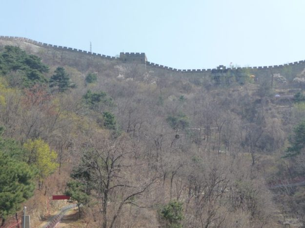 My first glimpse of the Great Wall of China