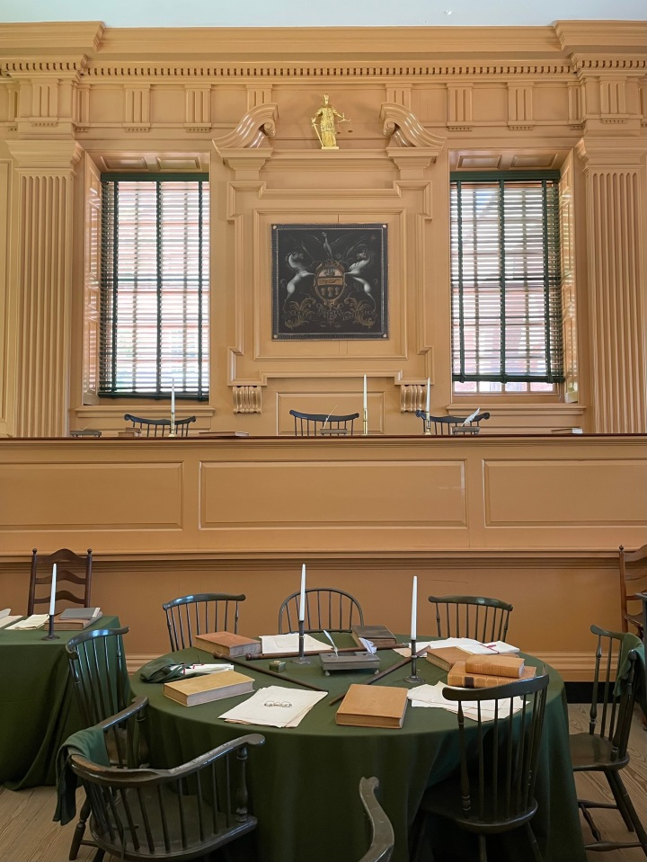 Close up of Court Room, Independence Hall, Philadelphia
