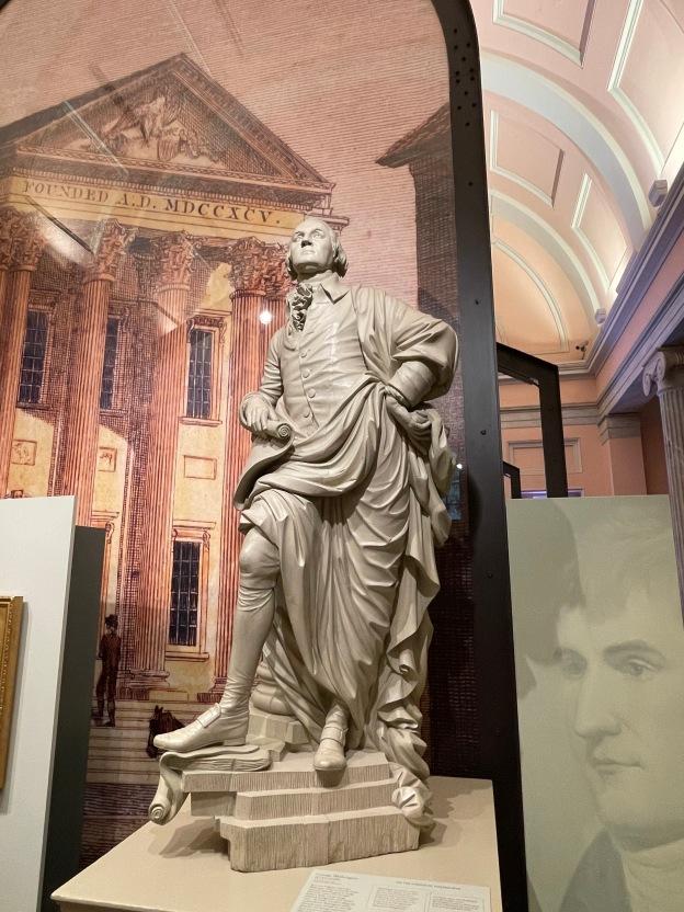 George Washington in a Roman Toga, Portrait Gallery, Philadelphia