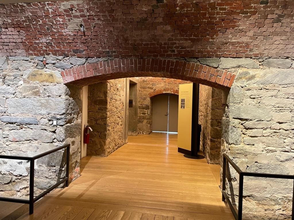 Basement walls, Portrait Gallery, Philadelphia