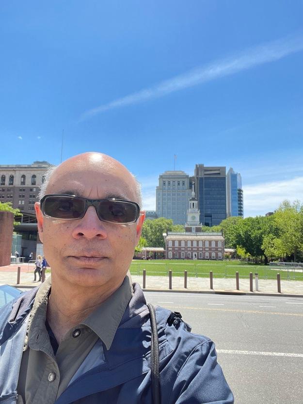Selfie in front of Independence Hall, Philadelphia