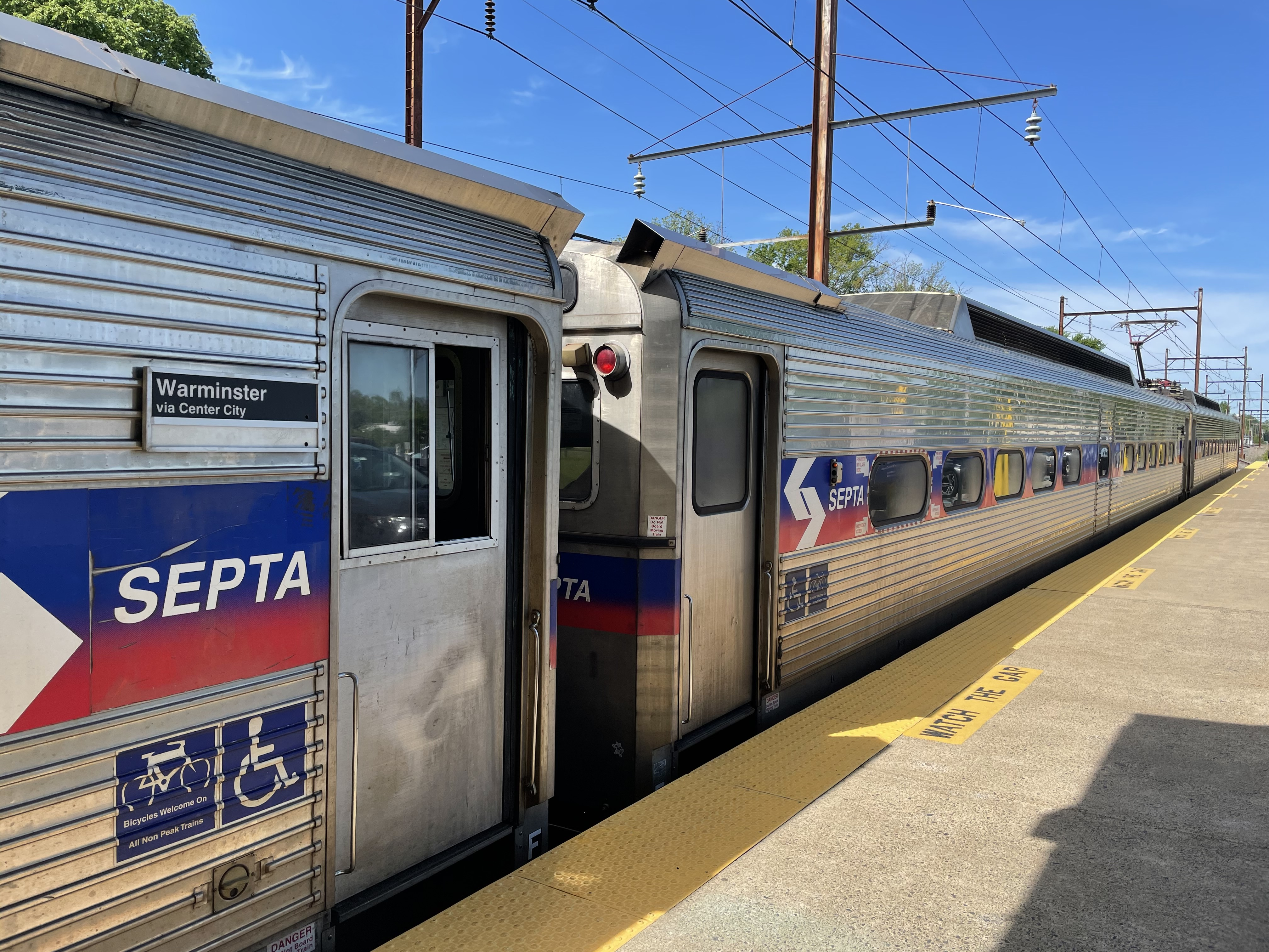 Local train to downtown Philadelphia