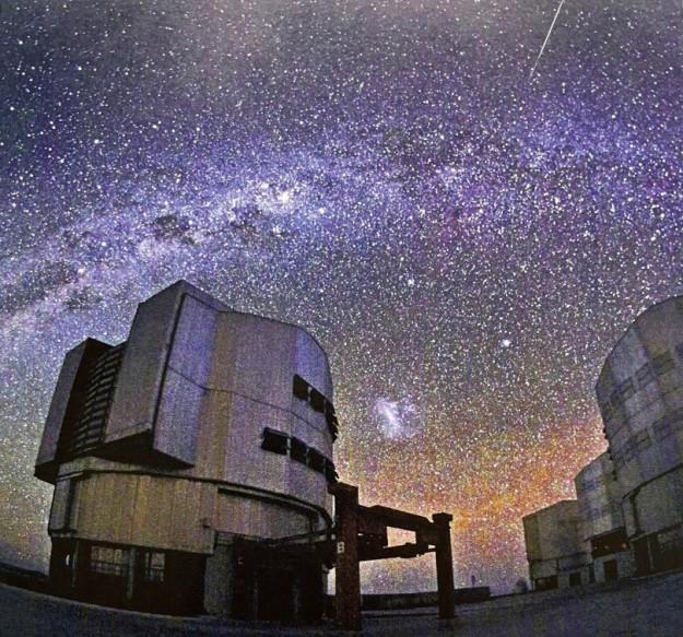 Earth based telescopes probing the night sky