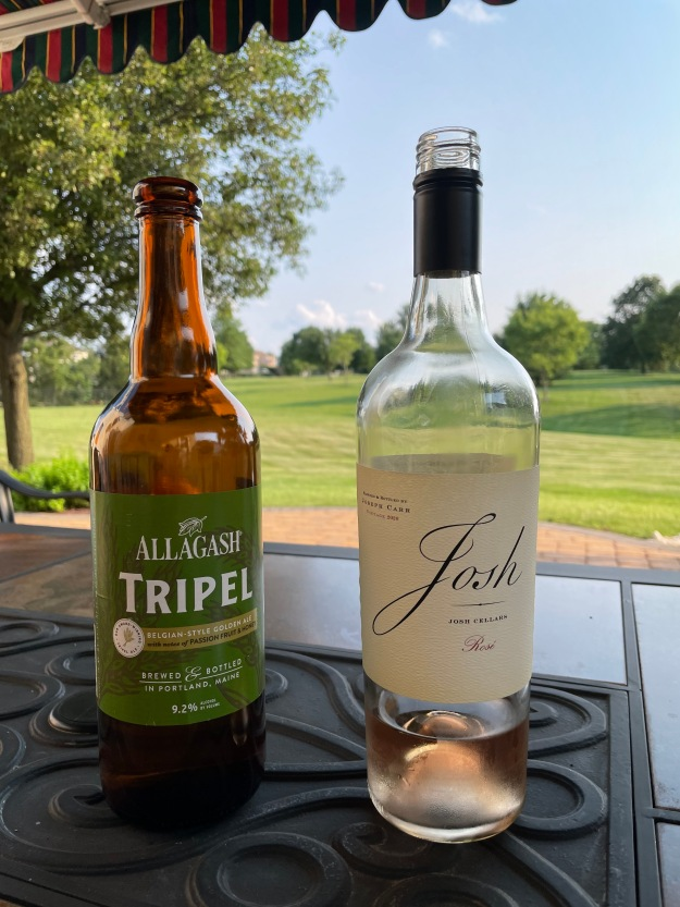 Beer and wine; a Tripel and a Rosé