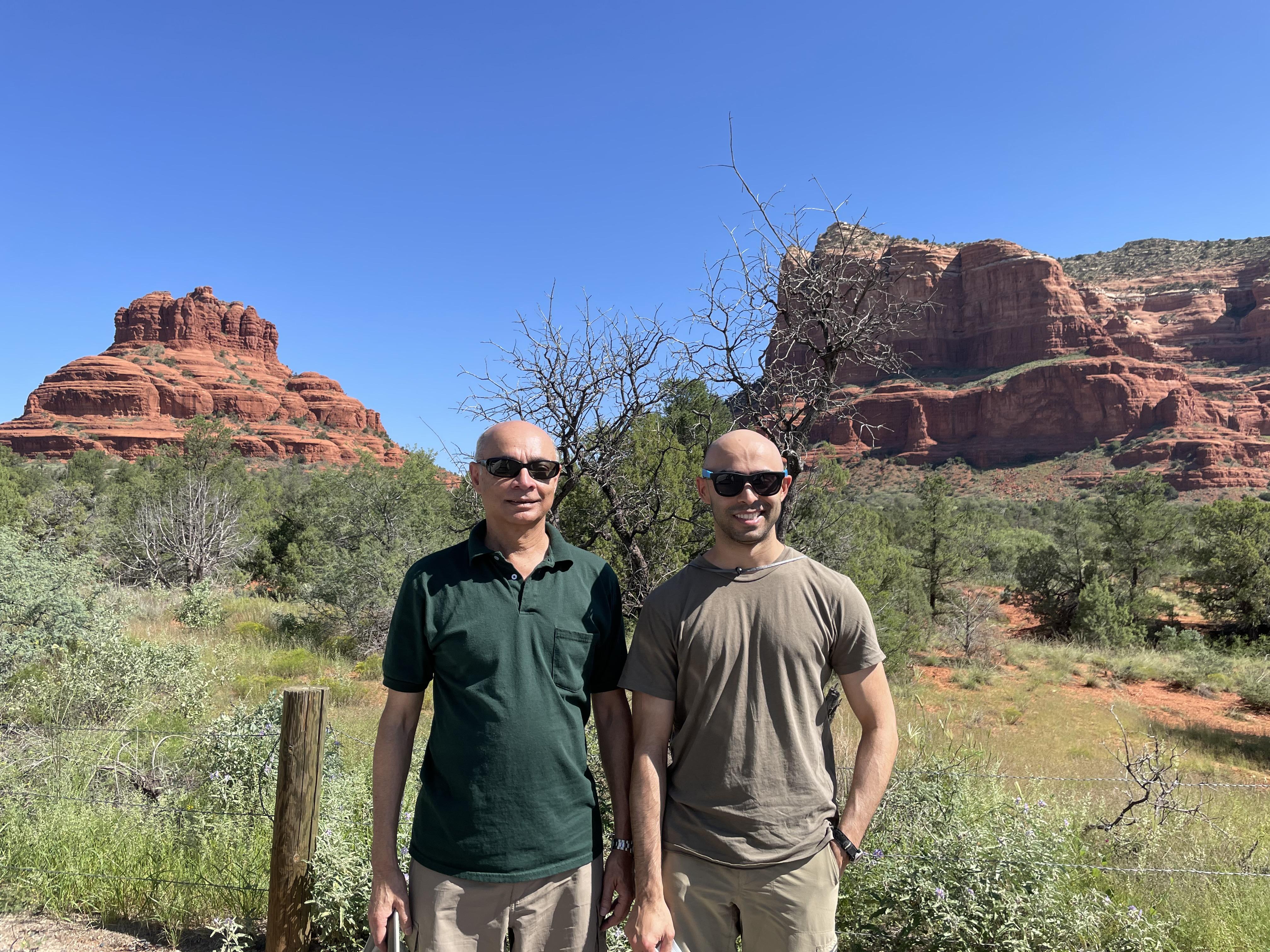 My son and I, Sedona, Arizona