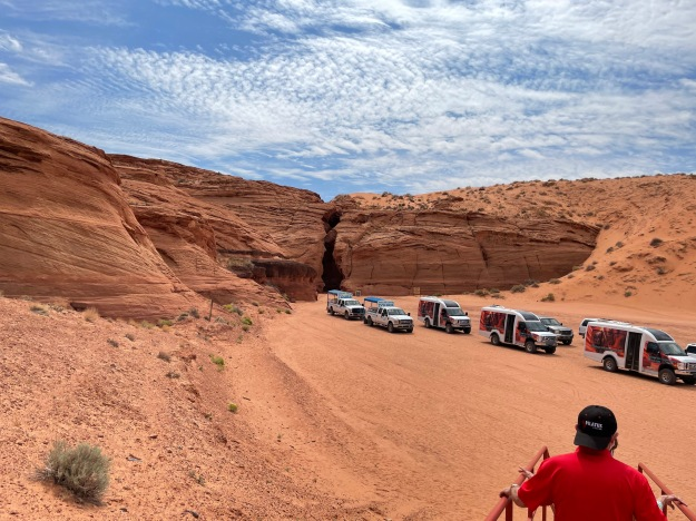 Entrance of Antelope Canyon.